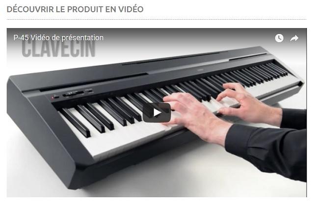 piano numérique P-45