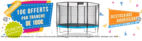 achat de trampoline
